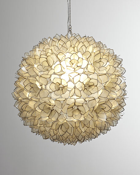 Neiman Marcus Capiz-Shell 1-Light Pendant