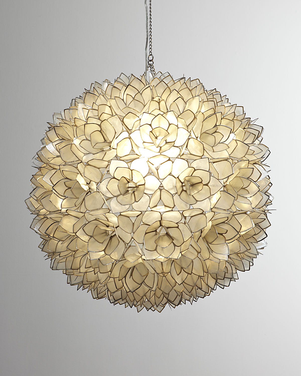 chandeliers shellcurtains curtains capiz more large shells chandelier beaded shell