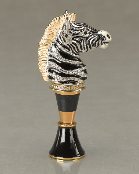 Zebra Head Wine Stopper