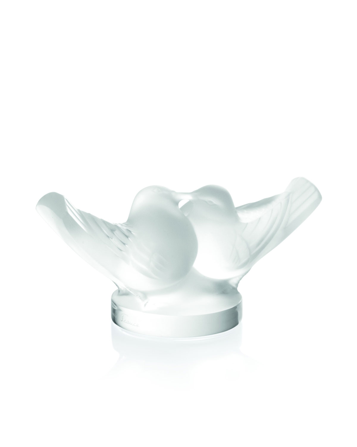 Lalique Crystal Doves Figurine