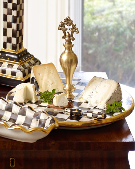 MacKenzie-Childs Courtly Check Cheese Platter