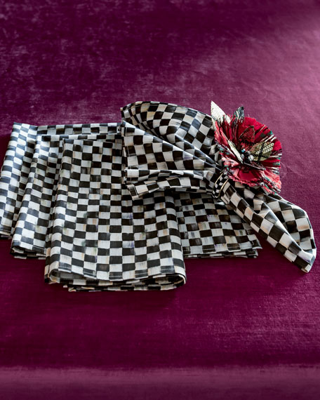 """MacKenzie-Childs Courtly Check Napkin with 1""""Sq. Check Pattern"""
