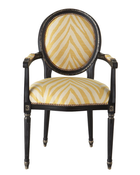 Image 2 of 2: Old Hickory Tannery Gretna Yellow Armchair