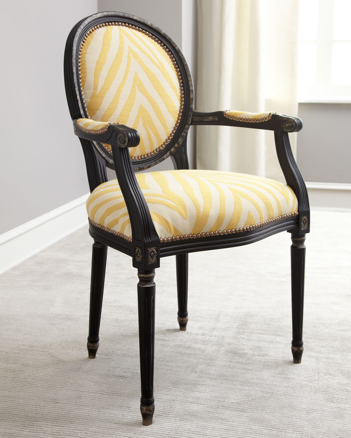 Old Hickory Tannery Gretna Yellow Armchair