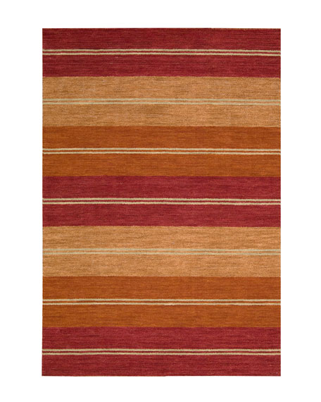 "Villa Stripes Flatweave Rug, 5'3"" x 7'5"""
