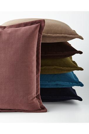 Henri Flanged Velvet Pillow