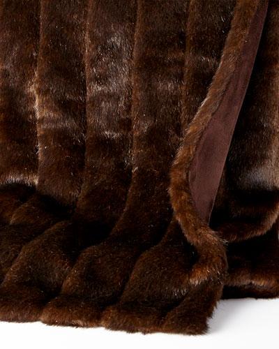 Sable Faux-Fur Throw