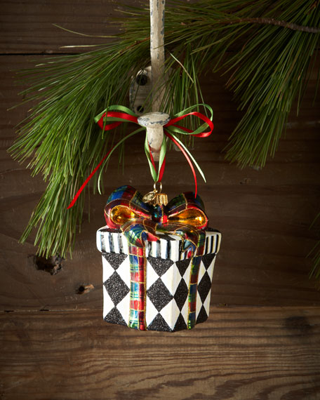 Harlequin Present Christmas Ornament