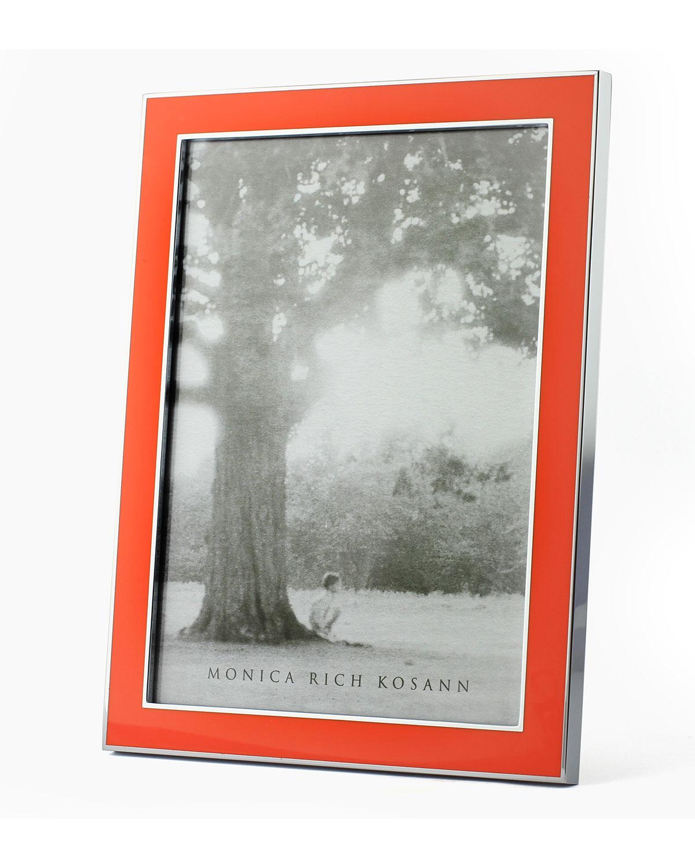 Monica rich kosann silver plate enamel picture frame neiman marcus jeuxipadfo Image collections