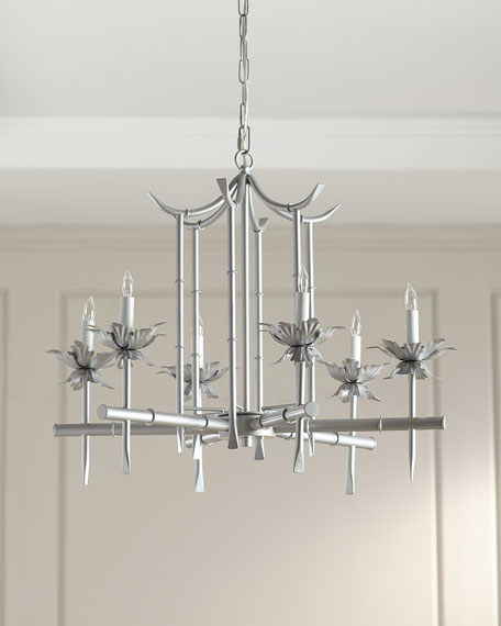 Bamboo motif 6 light chandelier neiman marcus bamboo motif 6 light chandelier aloadofball Image collections