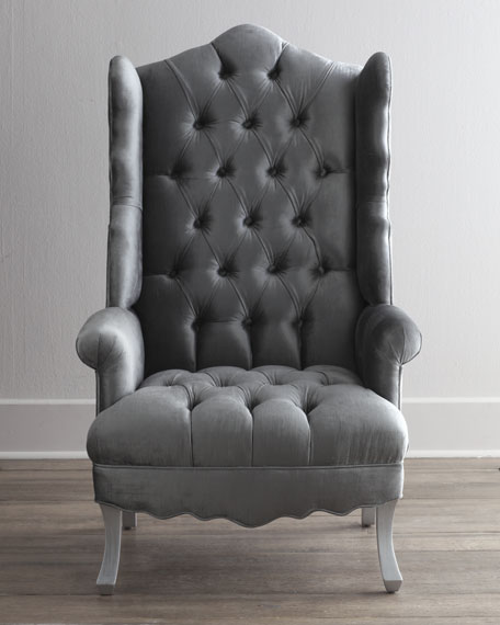 Haute House Isabella Chrome Wing Chair