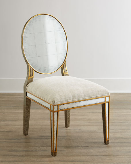 Lela Eglomise Side Chair