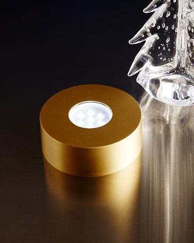 Gold-Tone LED Lighted Base