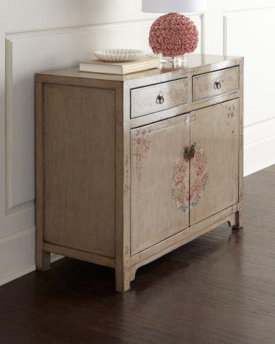 Vintage Wood Side Cabinet