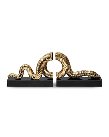 Snake Bookend Set