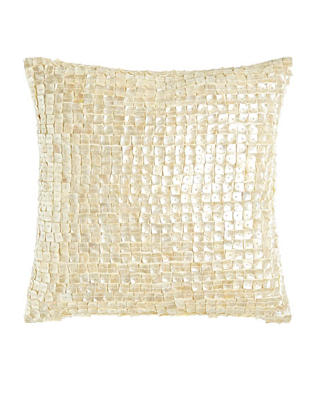 "Mother-of-Pearl  Pillow, 18""Sq."