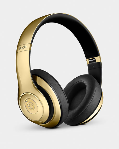 Golden Beats On-Ear Headphones & Pill Speaker