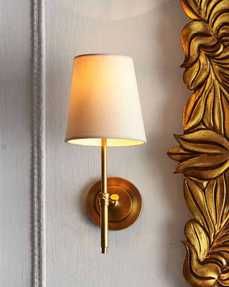 TOB by Thomas O'Brien Bryant Sconce with Antiqued-Brass Finish