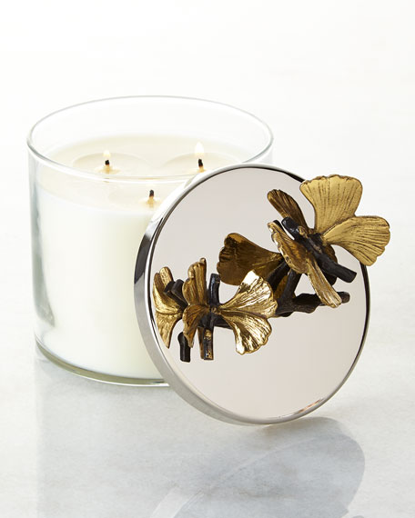 Image 3 of 3: Michael Aram Butterfly Ginkgo Candle