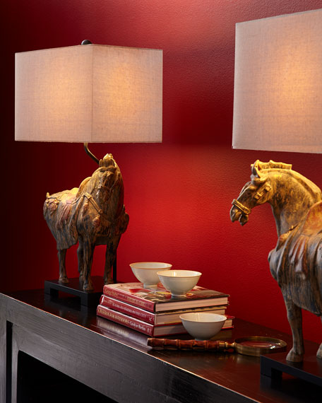 Regina Andrew Design Dynasty Horse Lamps, Set of Two