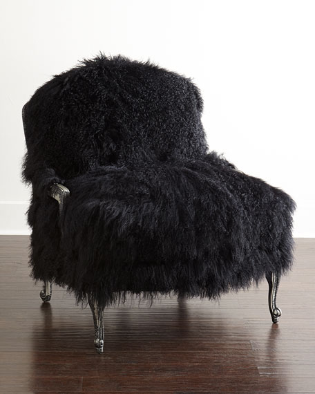 Old Hickory Tannery Worthen Noir Sheepskin Chair &