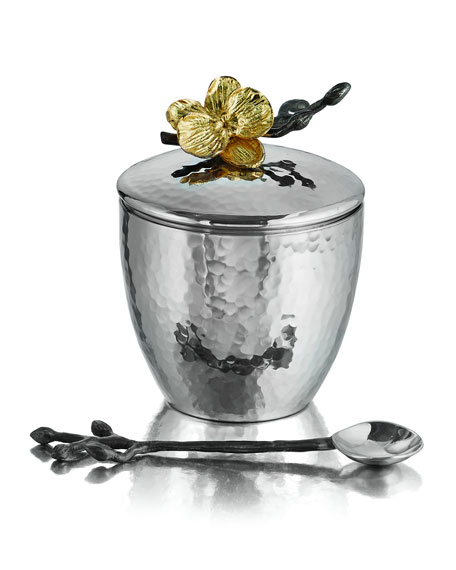 Michael Aram Gold Orchid Mini Pot with Spoon