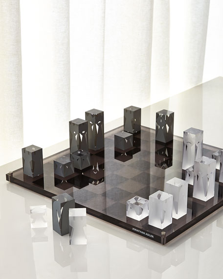 Jonathan Adler Acrylic Chess Set