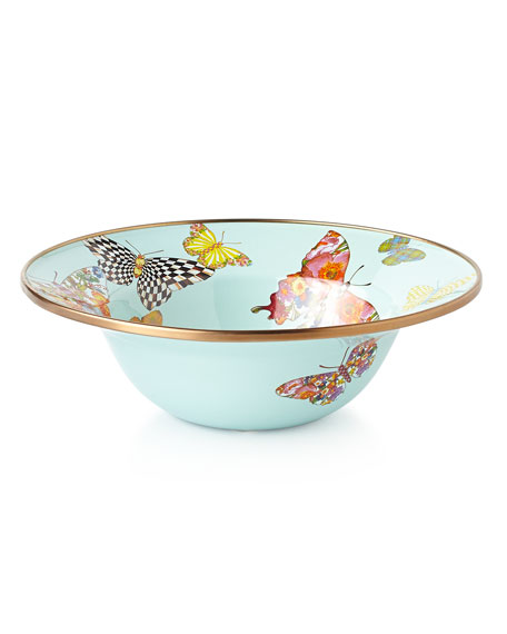 MacKenzie-Childs Butterfly Garden Sky Breakfast Bowl