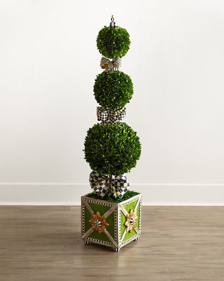 MacKenzie-Childs Courtly Check Triple-Tier Topiary
