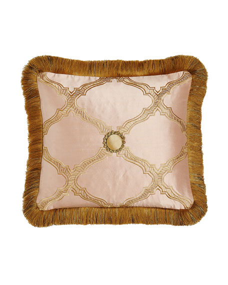 Sweet Dreams Versailles Reversible Pillow with Fringe, 15