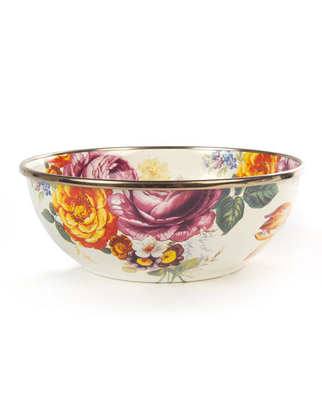MacKenzie-Childs Flower Market White Everyday Bowl