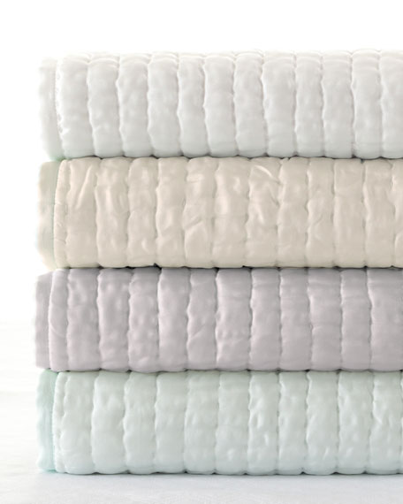 Annie Selke Luxe Standard Seta Quilted Silk Sham