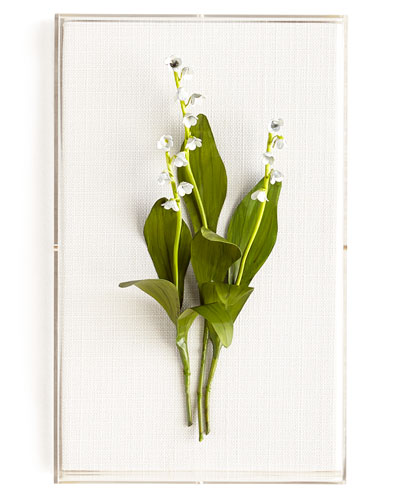 Original Painted Lily-of-the-Valley Study