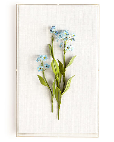 Original Painted Forget-Me-Not Study