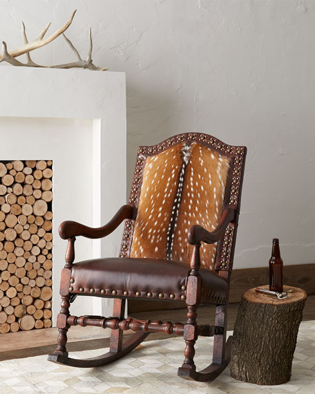 Image 2 of 4: Old Hickory Tannery Jefferson Rocking Chair