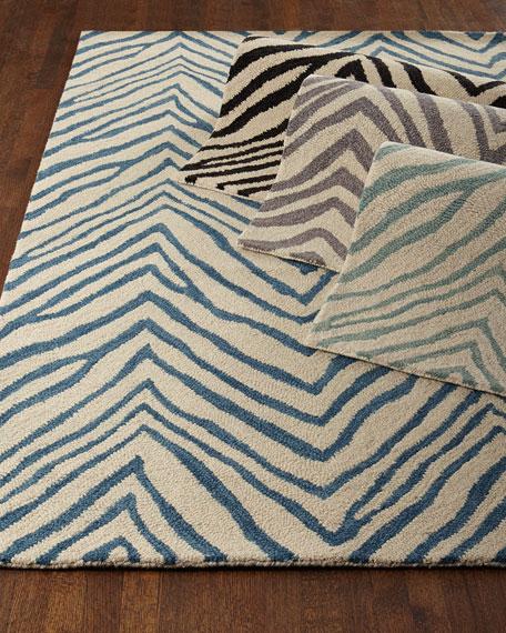 Mikki Zebra-Print Rug, 5' x 7'