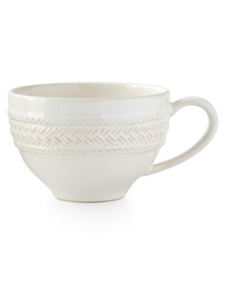 Juliska Le Panier Whitewash Tea/Coffee Cup