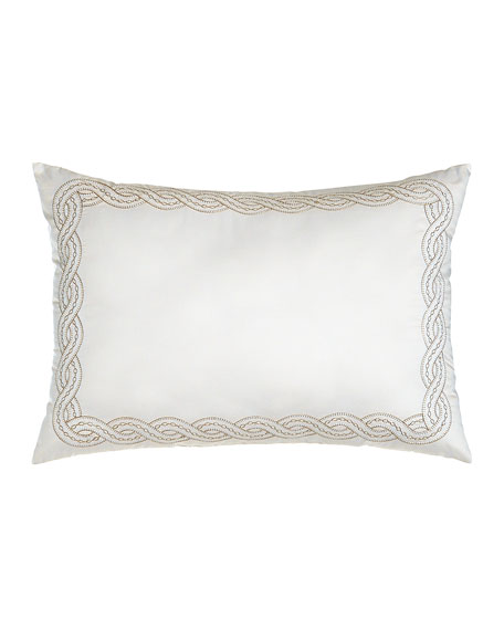 """Embroidered Pillow, 14"""" x 20"""""""