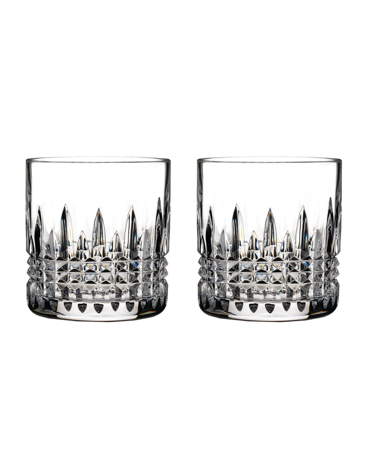 Waterford Crystal Lismore Diamond Double Old-Fashioneds, Set of 2