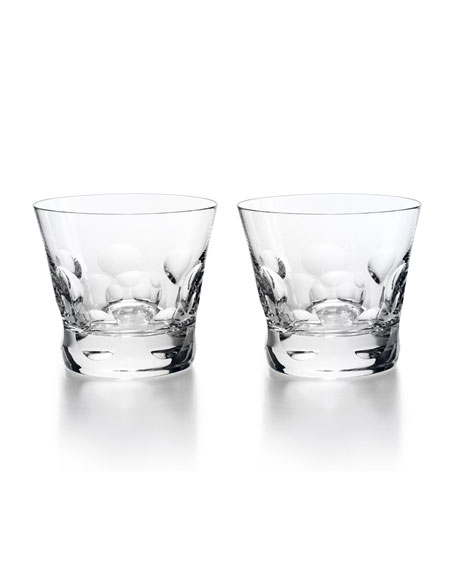 Baccarat Beluga Double Old Fashion Tumblers, Set of 2