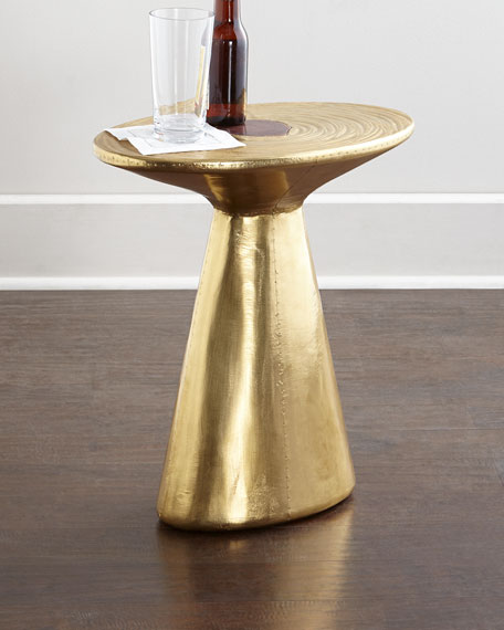 Dorian Brass Accent Table