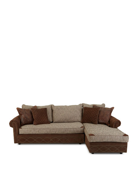 Old Hickory Tannery Witten Right-Arm Chaise Sectional