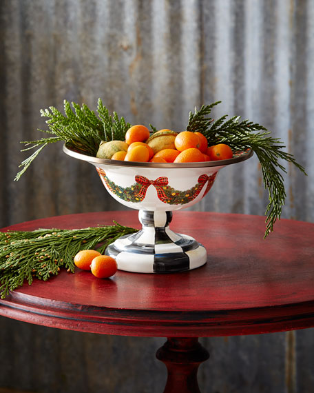 MacKenzie-Childs Evergreen Small Compote