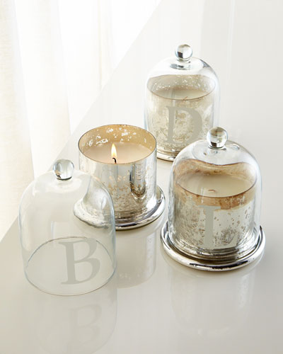 Monogram candle cloche