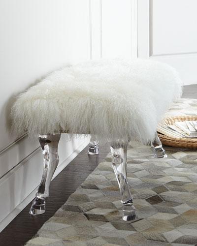 Centaur Sheepskin Bench