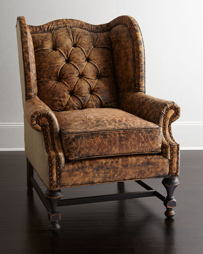Old Hickory Tannery Gibson Leather Wing Chair