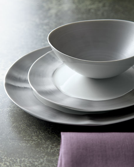 Image 2 of 4: 12-Piece Platinum Brushstroke Dinnerware Service