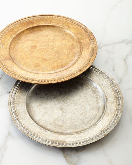 Jay Import Co Beaded-Edge Charger Plate