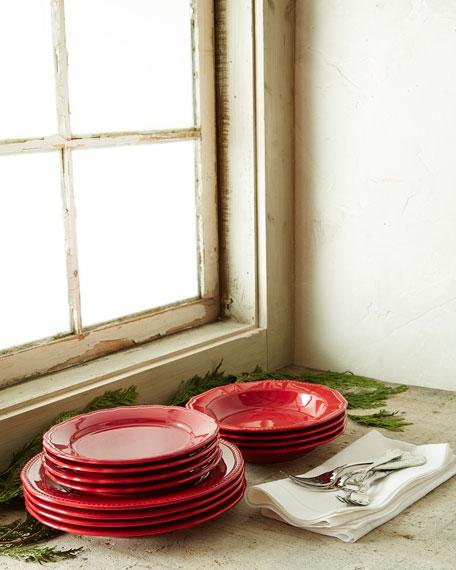 Matceramica 12-Piece Red Bistro Dinnerware Service
