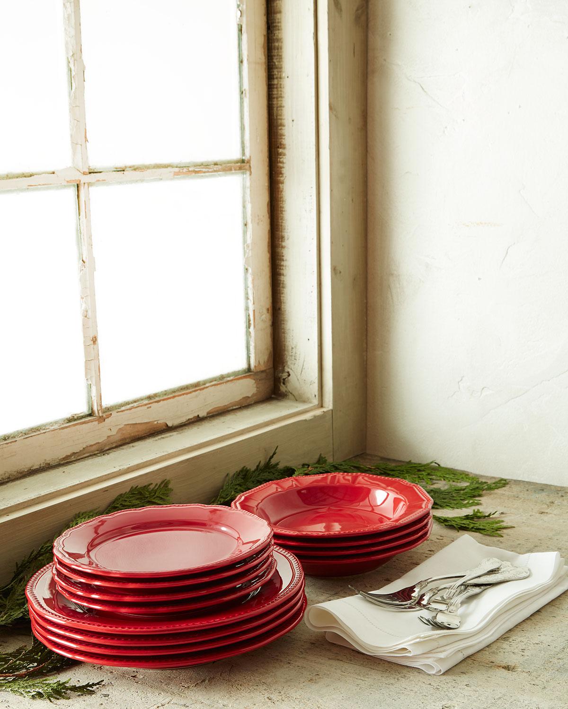 & Neiman Marcus 12-Piece Red Bistro Dinnerware Service | Neiman Marcus